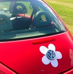 My Bug needs this :) - VW Beetle Magnetic Vinyl Daisy on Etsy, $20.00
