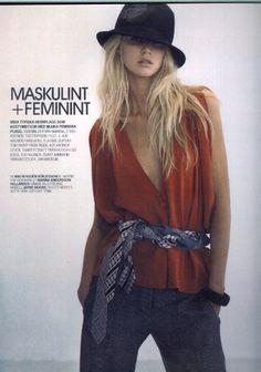 Jayne Moore on Cover Pages of Elle Sweden
