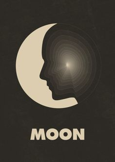 Moon poster by Simon C. Page