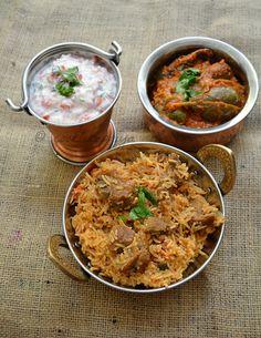 Amma's Mutton Biryani Recipe | South Indian Style Mutton/Goat Biryani