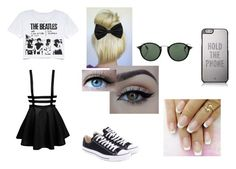 """""""Born in the Wrong Generation"""" by maia-hopkins ❤ liked on Polyvore featuring Retrò, Converse, xO Design, Ray-Ban and Kate Spade"""