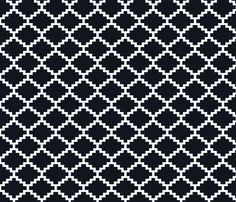 RickRack_Black fabric by walrus_studio on Spoonflower - custom fabric