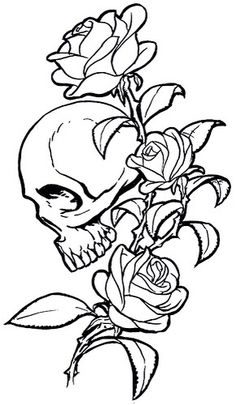 Do you want to examine about beautiful skull rose tattoos? Learn more about different the greatest kind of skull rose tattoo designs. It might surprise you that skulls roses tattoos have been becoming popular amongst guys folks. Skull Rose Tattoos, Black Rose Tattoos, Body Art Tattoos, Tribal Tattoos, Sleeve Tattoos, Tattoos Of Roses, Tattoo Sugar Skulls, Dead Rose Tattoo, Skull Thigh Tattoos