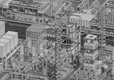 AA School of Architecture 2015 - Sebastian Tiew Architecture Graphics, Architecture Drawings, School Architecture, Sci Arc, Aa School, Architectural Association, Dark Fantasy Art, Sci Fi Art, Palace