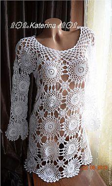 Wild flowers - white, floral, summer dress, crochet, dress beach