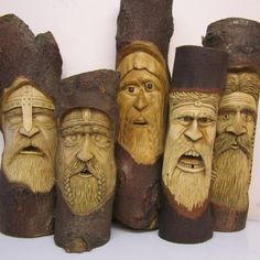 Woodwose Carving, wood spirita Source by catotho Wood Carving Faces, Dremel Wood Carving, Wood Carving Patterns, Wood Carving Art, Carving Tools, Whittling Wood, Dremel Projects, Chip Carving, Got Wood