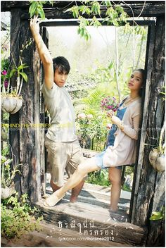 Thoranee Ni Krai Kron behind the scenes Perfect Couple, Sweet Couple, Sungjae And Joy, Thai Drama, Super Star, Asian Actors, The Crown, Celebrity Couples, Cute Couples