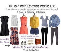 10 Piece Travel Essentials Packing List Spring 2013