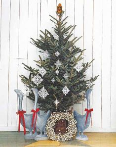 Country Christmas Tree Decorating Ideas | Interior Home Designs ...