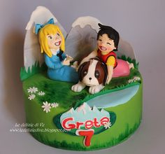 Le Delizie di Ve: HEIDI CAKE Heidi Cartoon, Tom And Jerry Cartoon, Cake Fondant, Sugar Art, Party Cakes, Toy Chest, Cake Toppers, Cupcakes, Sweet
