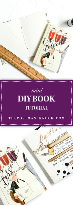 Learn how to make a DIY book -- no special tools required! These mini books are great as gifts or just as notebooks to keep around the house.