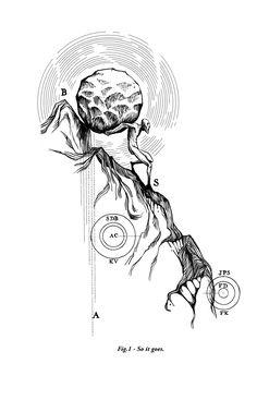 03.25.2013 | Sisyphus tattoo for Garrett, by Ilustreishon #math #lines #illustration #POTD99