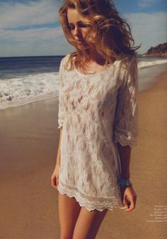 I love lace beach dresses on a warm day :)