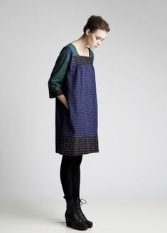 marimekko- muija pattern by maija isola. i wish we sold this dress at work. i'd buy it in a heartbeat. Online Shopping Clothes, Clothes For Sale, Clothes For Women, New Fashion Clothes, Fashion Dresses, Fancy Dress Outfits, Fall Outfits, Marimekko Dress, Outfits