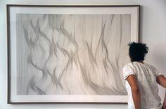 "Saatchi Online Artist John Franzen; Drawing, ""Each line one breath serie"" #art"