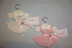 Resultado de imagen de souvenirs de bautismo en crochet
