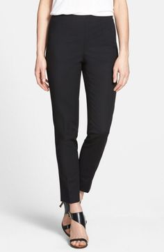 Vince Camuto Vince Camuto Side Zip Double Weave Stretch Cotton Pants (Regular & Petite) available at #Nordstrom