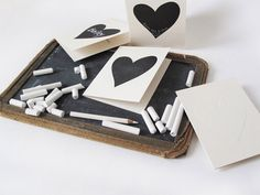 Valentine's chalkboard heart card   |   Photo:  this is glamorous, via Flickr