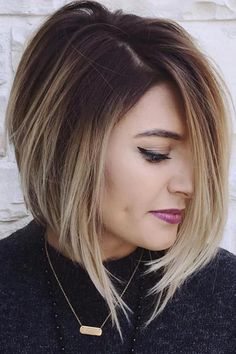 40 Best Edgy Haircuts Ideas to Upgrade Your Usual Styles - - Angled Balayage Bob. Edgy Bob Haircuts, Inverted Bob Hairstyles, Medium Hairstyles, Curly Hairstyles, Celebrity Hairstyles, Layered Hairstyles, Medium Hair Cuts, Short Hair Cuts, Short Hair Styles