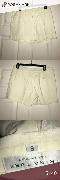 Trina Turk Shorts Trina Turk pretty cream shorts. These go with everything! A great staple piece!!! Excellent condition! Trina Turk Shorts