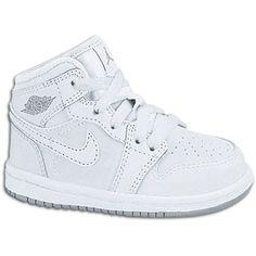 Jordan 1 Phat - Boys' Toddler - Basketball - Shoes - White/White/Wolf Grey