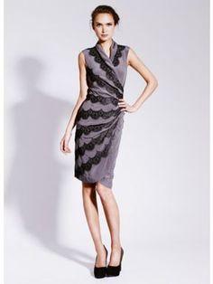 Mint Velvet Grey Applique Dress Grey