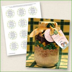 One of my super-crafty customers, Jill, just threw a John Deere party and had a fantastic idea for favors! Inspired by Bakerella's cowgirl cookies, Jill created John Deere cookie mix jars with green, yellow and brown M&M's. Look how great they turned out: John Deere ...