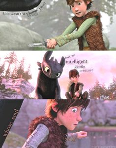 Hiccup parallels his mother.