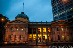 Brisbane Customs House Wedding; in it's full glory with Tish and Jun in the doorway