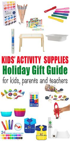 Activity Supplies Holiday Gift Guide - HAPPY TODDLER PLAYTIME Want to get your little one a gift that they will use for a long time? Check out this kids activity supplies holiday gift guide for amazing and fun gift ideas! #giftguide #holidaygifts #christmasgifts