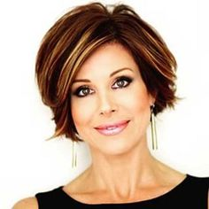 short hairstyles over 50 - Dominique Sachse short . Short Hairstyles Over 50, Mom Hairstyles, Hairstyle Ideas, Black Hairstyles, Hairstyles 2018, Hairdos, Updo Hairstyle, American Hairstyles, Layered Hairstyles
