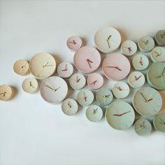 Ceramic Clock by Elke van den Berg + Femke Roefs, available for at Dutch Design Year. Home Design, Interior Design, Cerámica Ideas, Decor Ideas, Turbulence Deco, Pastel Colors, Pastels, Colours, Pretty Pastel