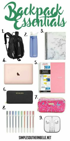 Essentials Backpack essentials for college or high school!Backpack essentials for college or high school! High School Hacks, Life Hacks For School, School Ideas, School Lessons, Math Lessons, School Projects, Schul Survival Kits, Survival Prepping, College Survival Guide