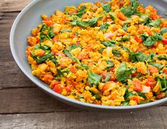 Spicy Chickpea Scramble - Whether you are tired of your morning tofu scramble, looking for something different for breakfast, or are allergic to soy, this is a great alternative!