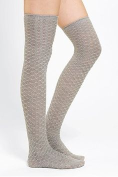 aa2a628a7b1 Textured Cable Thigh-High Sock - Urban Outfitters