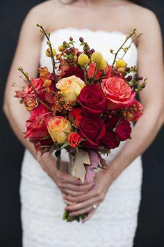 fall bridal bouquet {Botanical Design}