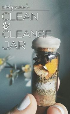 """witchy-woman: """" Hi sweeties! Today's jar was a much requested one– motivation to not only CLEAN your home but also to CLEANSE it! What a fun jar to create! Let's get on to it! • allspice - for determination & to add energy to our spell • bay leaf -..."""