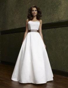 simple a line wedding dress plus size