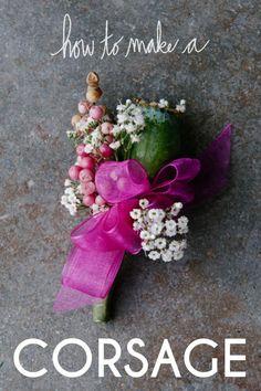 DIYcorsages: DIY wedding flowers DIY Make A Corsage