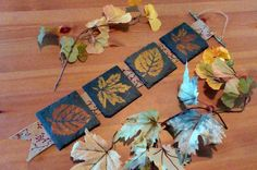 Use slate coasters and stencils to bring the warmth of colored leaves into your home this fall with this easy DIY home decor project.