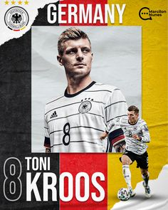 Toni Kroos, Soccer Poster, Poster Boys, Football Images, Football Design, Sports Graphic Design, Graphic Design Layouts, Price Tag Design, Sports Templates