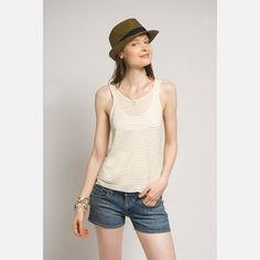 Tallulah Striped Tank White, now featured on Fab.