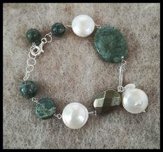 Bracciale Collezione A/I 2017 Argento, ematite, perle d'acqua dolce e diaspro Bracelets, Silver, Jewelry, Jewlery, Jewerly, Schmuck, Jewels, Jewelery, Bracelet