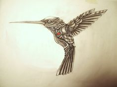 My Shaded version of my clockwork Hummingbird Tattoo copper etching - [link] My Mechanical Hummingbird Tatt Hummingbird Flower Tattoos, Tattoo Themes, Tattoo Ideas, Tattoo Designs, Flor Tattoo, Etching Tattoo, Garden Tattoos, Native American Tattoos, Robot Tattoo