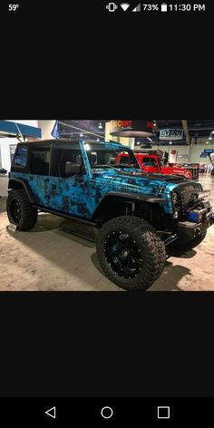 Best JEEP paintjob ever! The Upgrades look nice too ♥ #jeepgirl #ItsAJeepThing