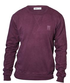 All Natural Sweater in Viola - organic clothing
