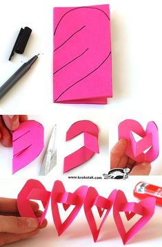 Gifts for Valentine's day with their hands: Valentine's Day ideas for kids – DIY is FUN Animal Crafts For Kids, Valentine Crafts For Kids, Mothers Day Crafts, Valentines For Kids, Valentine Decorations, Paper Decorations, Diy For Kids, Valentine Gifts, Friend Crafts