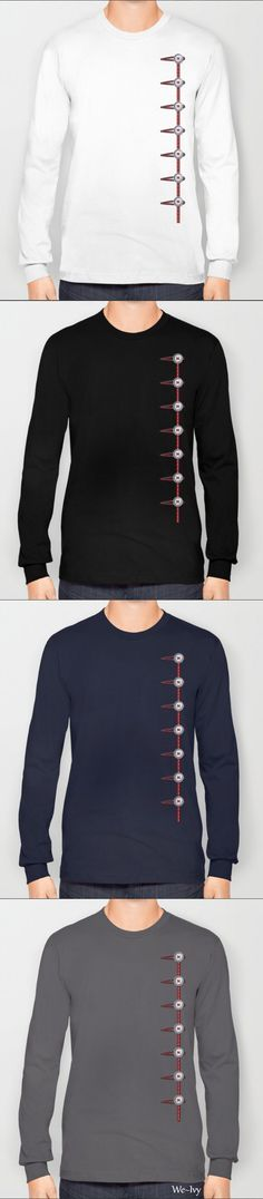 by We~Ivy. 5 color available. Tri-Blend Long Sleeve T-Shirts are made with 50% Polyester, 25% Cotton and 25% Rayon. Follow We~Ivy's Art BootH for more special #art #gift ideas for #holiday seasons or # birthday #party, to find great #home decors or stuff just to spoil yourself. Presents For Friends, Graphic Shirts, Hoodies, Sweatshirts, Chiffon Tops, Ivy, Classic T Shirts, My Design, Ocean