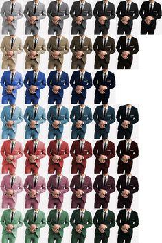 Suit Color: Grey Shades, Black, Tan, Brown Shades, Blue Shades, Navy Shades, Red Shades, Pink Shades, Green Shades