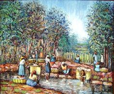 """At the River 20""""x24"""" * Click image to review more details."""